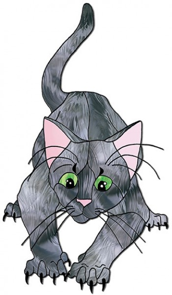 Katze Schnittmuster - Tiffanyshop-Glasladen