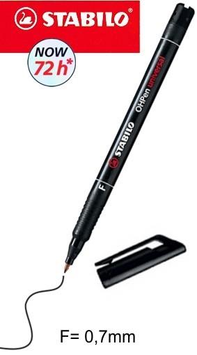 Filzstift schwarz 0,7mm - Wasserfest