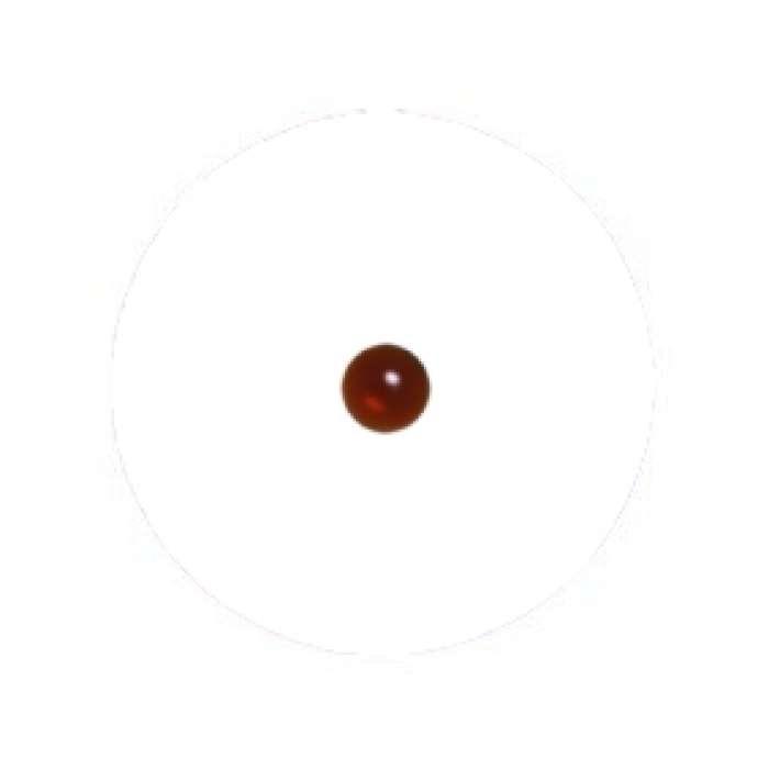 Muggel 6 mm dunkelamber - braun