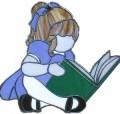 Mädchen mit Buch  Schnittmuster