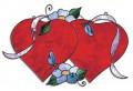 Doppel-Herz Schnittmuster
